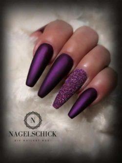 Nagelschick Wetlook Farbgel Metallic Pflaume