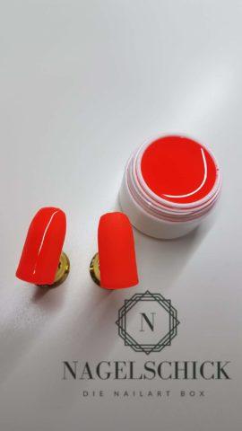 Nagelschick Premium Farbgel Neon Rot 2
