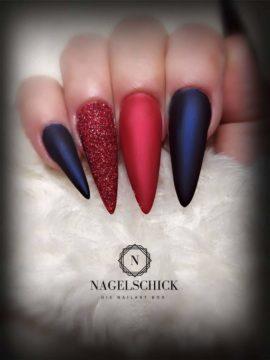 Nagelschick Premium Metallic Farbgel Cherry 2