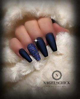 Nagelschick Wetlook Farbgel Metallic Midnight Blau 2