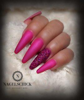Nagelschick Premium Metallic Farbgel Cherry Merlot 2