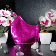 Mund Nase Bedeckung Metallic Pink