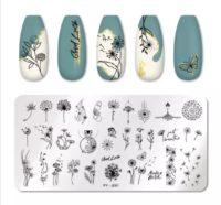 Stamping platte Blume