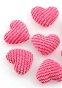 Strick Herz Pink